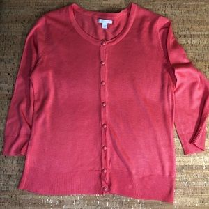 New York & Co Women's Cardigan - Coral M